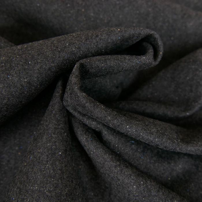 Tissu lainage viscose fin - gris chiné x 10 cm