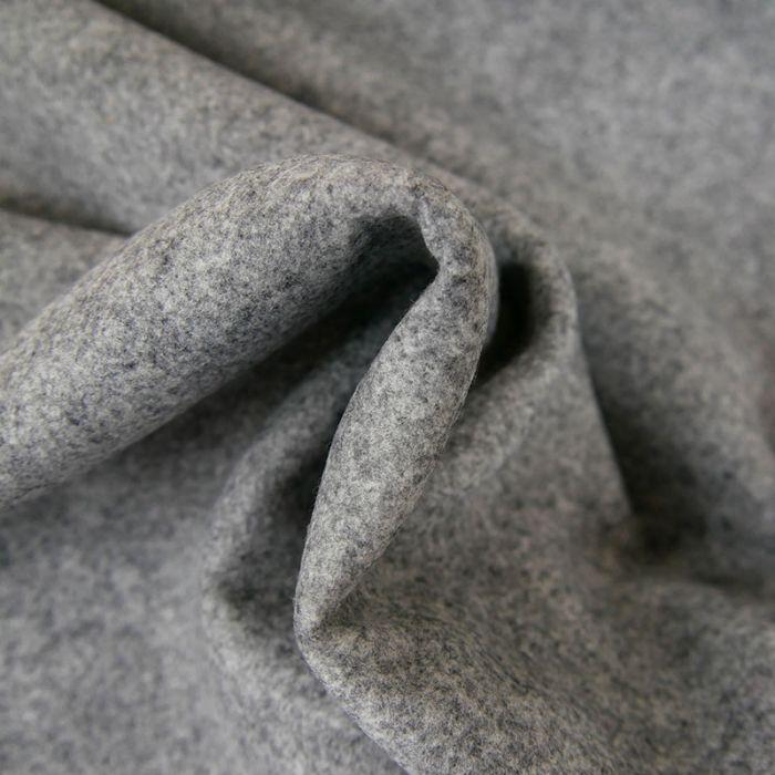 Tissu drap de laine - gris x 10 cm