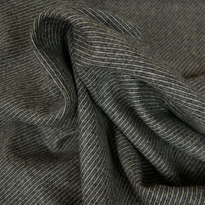Tissu lainage sergé haute couture - gris x 10 cm