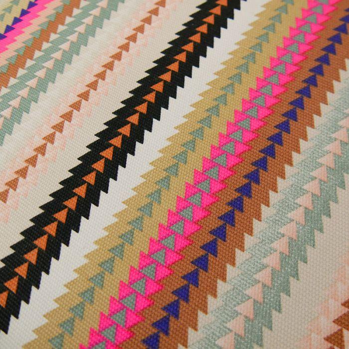 Tissu toile de coton rayures fluo - Rico Design x 10 cm