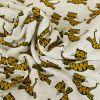 Tissu molleton sweat tigres - gris x 10 cm