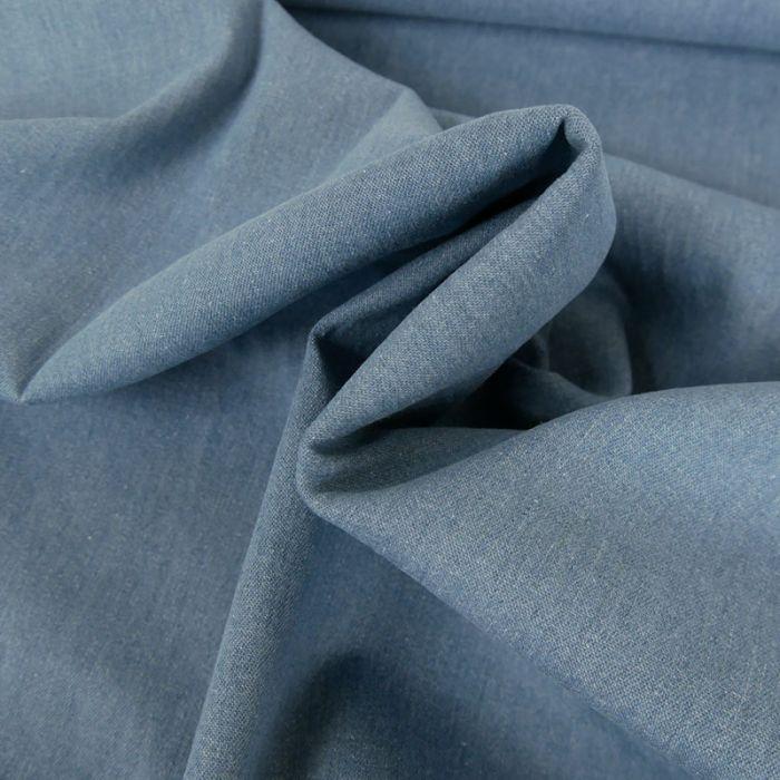 Tissu jeans stretch coton - bleu x 10 cm