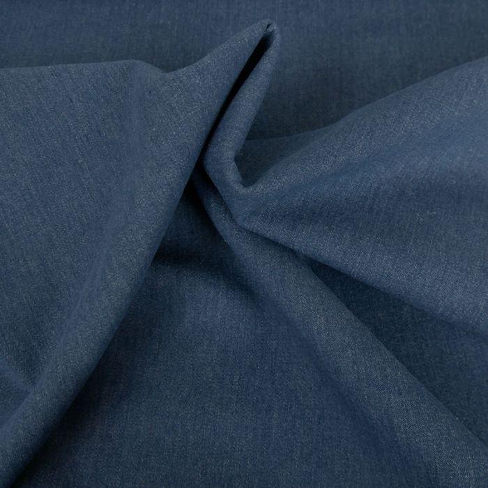 Tissu jeans stretch coton - bleu foncé x 10 cm