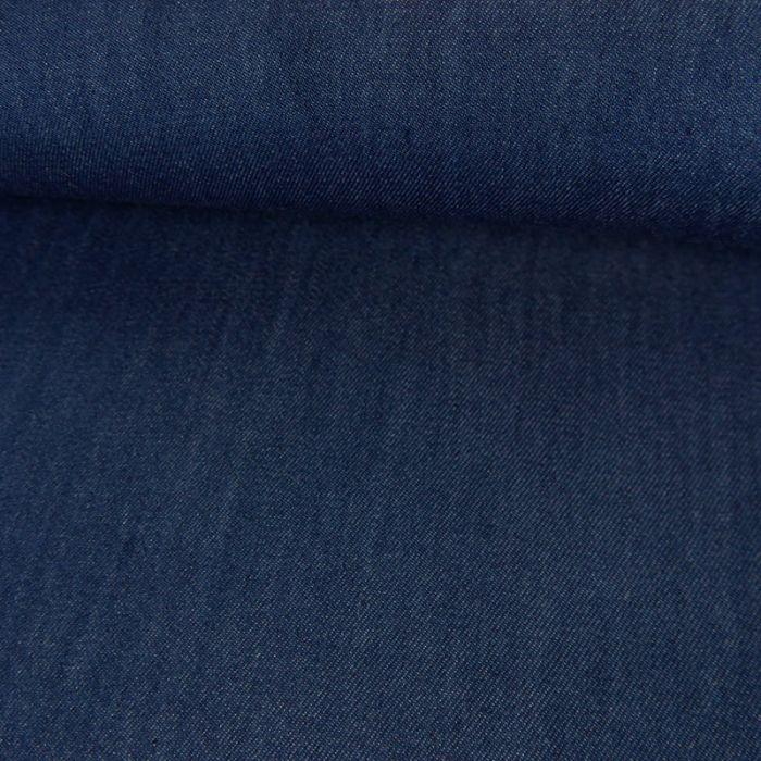 Tissu chambray tencel - bleu foncé x 10 cm