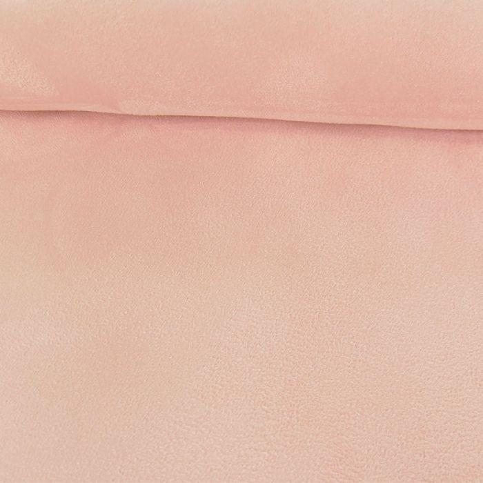 Tissu Suédine - rose nude x 10 cm