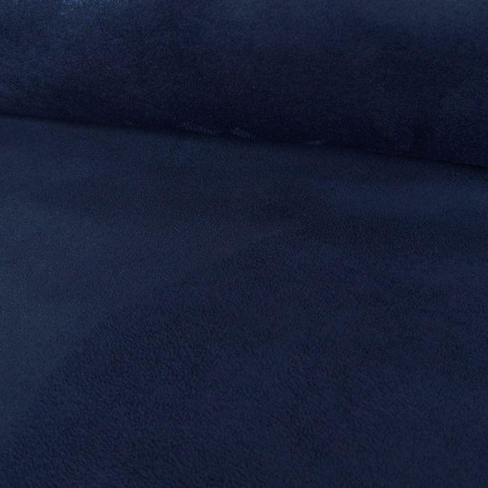 Tissu Suédine - bleu saphir x 10 cm