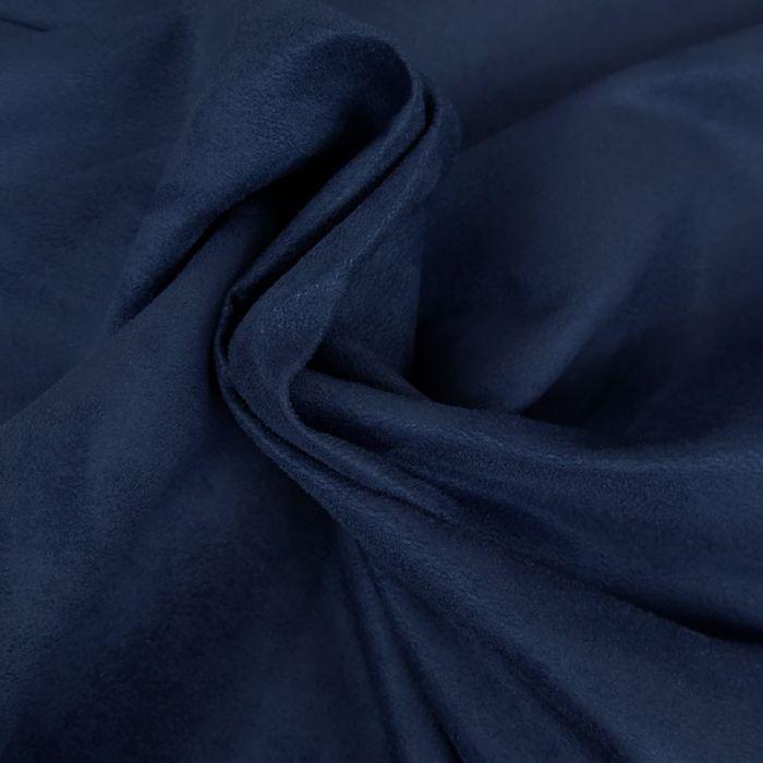 Tissu Suedine Traitement Teflon Bleu Saphir