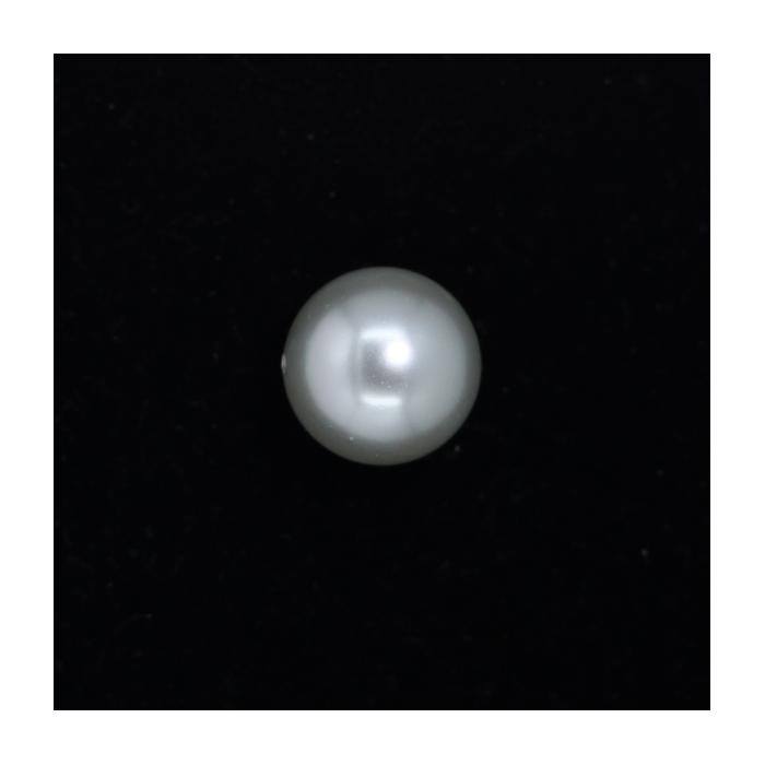 Perle nacrée ronde 20mm gris perle x1