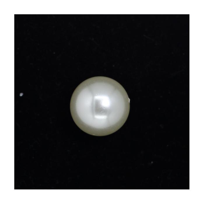 Perle nacrée ronde 20mm écru x1