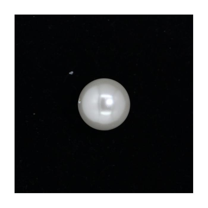 Perle nacrée ronde 18mm blanc x1