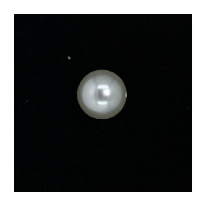 Perle nacrée ronde 18mm écru x1