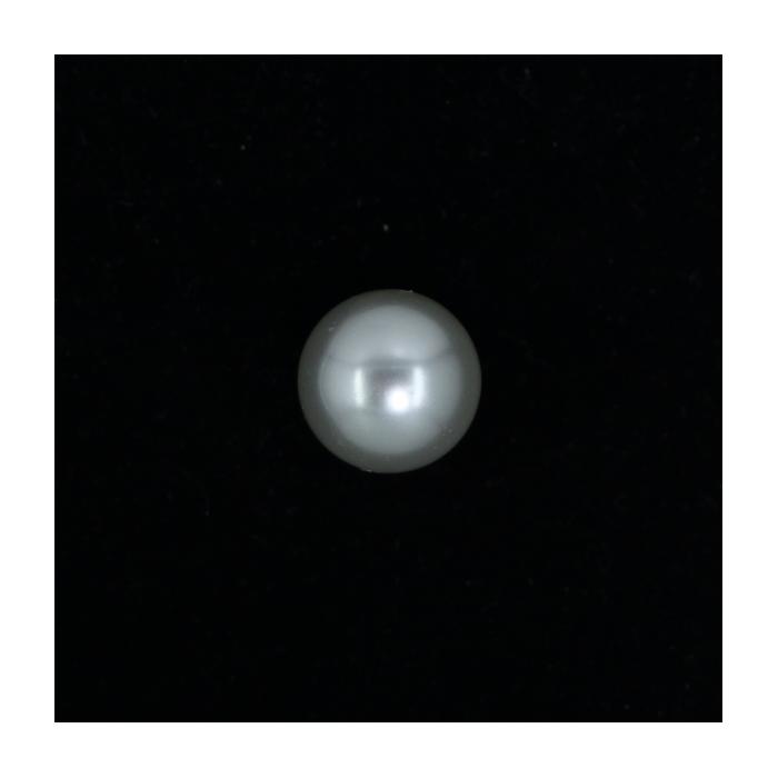 Perle nacrée ronde 18mm gris perle x1