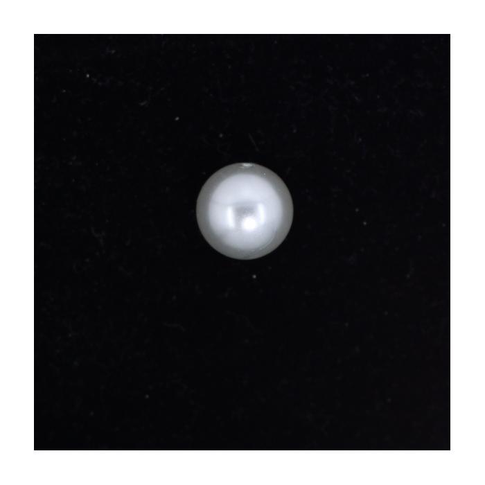 Perle nacrée ronde 14mm gris perle x1