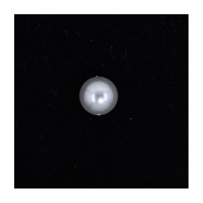 Perle nacrée ronde 12mm gris perle x1