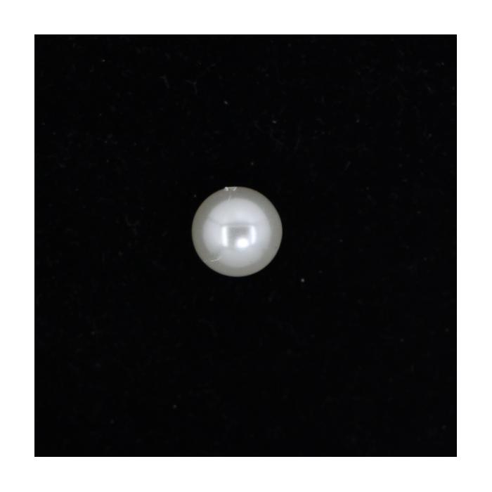 Perle nacrée ronde 12mm écru x1