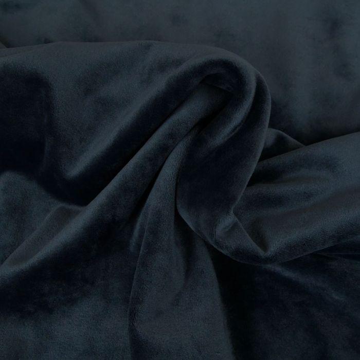 Tissu velours stretch - bleu marine x 10 cm