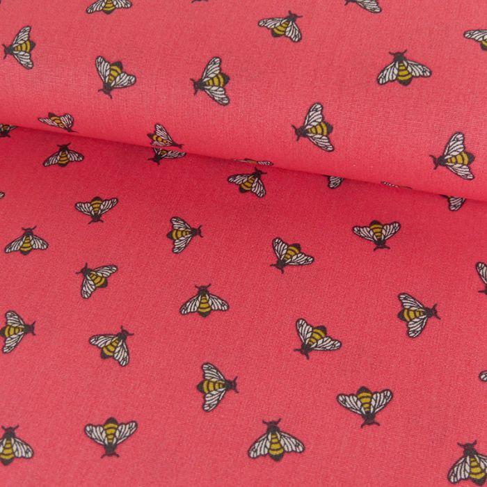 Tissu coton abeilles - Poppy x 10 cm