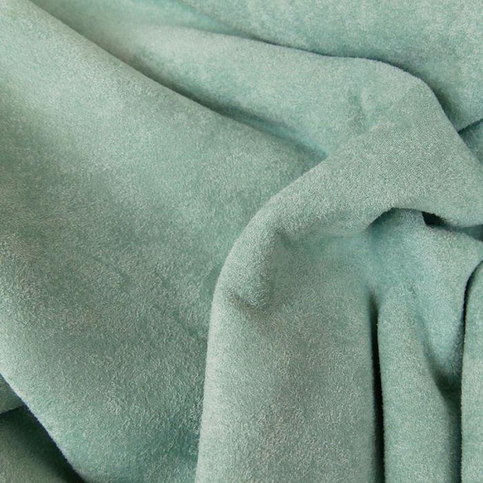 Tissu suédine envers fourrure mouton - mint x 10 cm