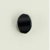 Agate: perle ovale facettée 10/8mm noir x1