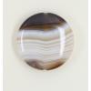 Agate : perle pastille ronde 30mm marron x1