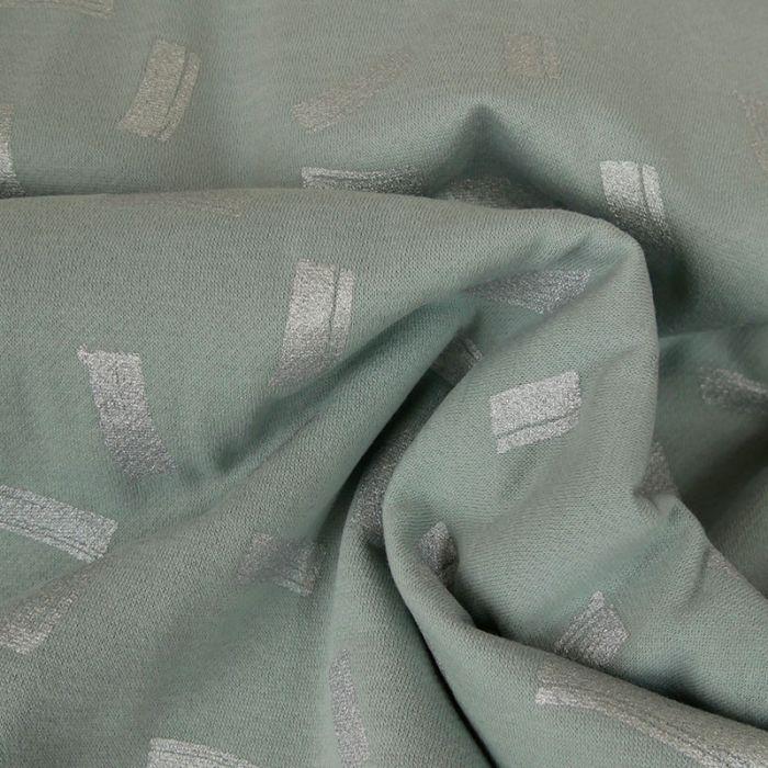 Tissu molleton gris - Rico Design x 10 cm