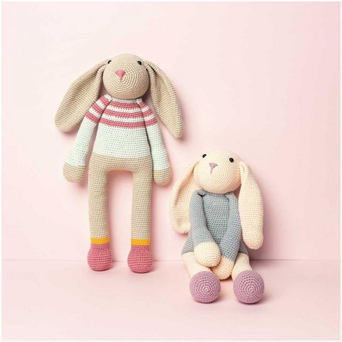 Kit crochet amigurumi Ricorumi - lapin à rayures