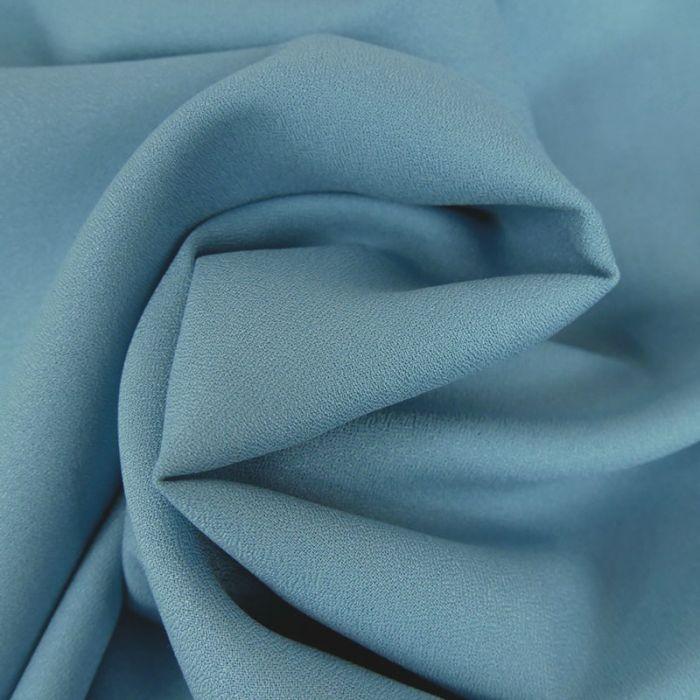 Tissu Crêpe viscose haute couture - bleu clair x 10 cm