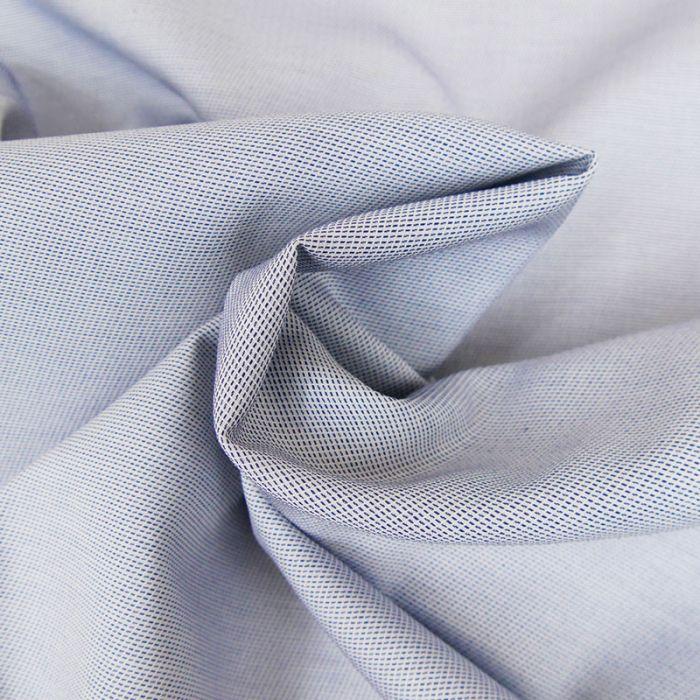 Tissu sergé coton fin - bleu x 10 cm