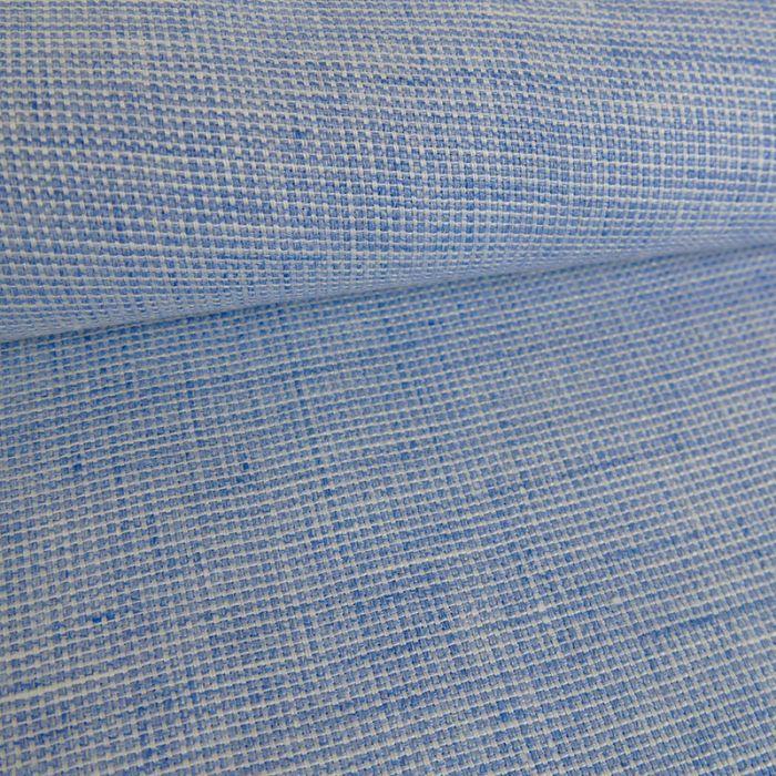 Tissu lin texturé - bleu x 10 cm