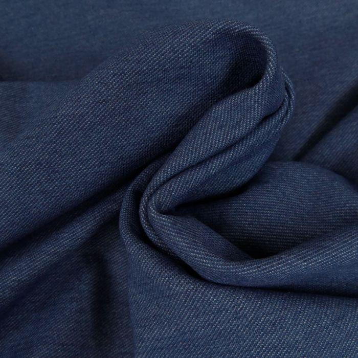 Tissu jean élasthanne - bleu x 10 cm