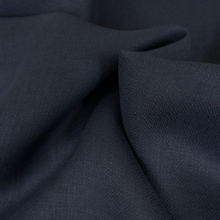 Tissu lin souple - marine x 10 cm
