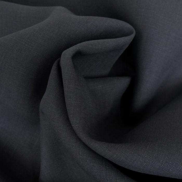 Tissu lin - bleu foncé x 10 cm