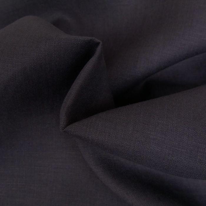 Tissu lin - bleu nuit x 10 cm