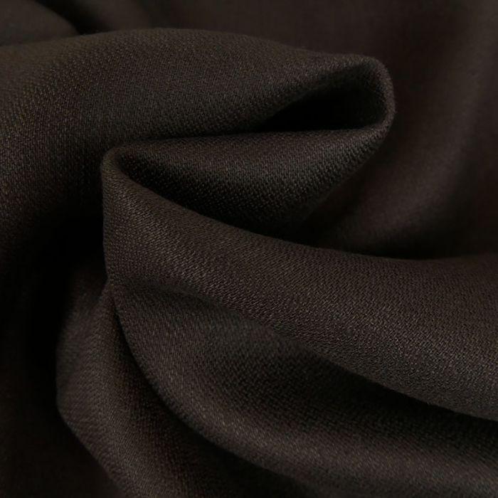 Tissu lin souple - marron foncé x 10 cm