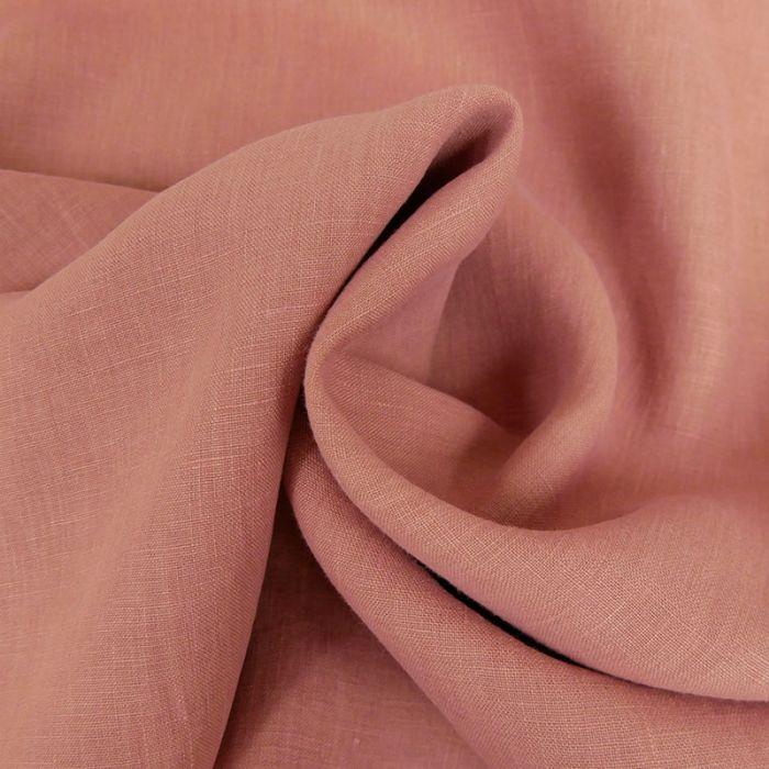 Tissu lin - vieux rose x 10 cm