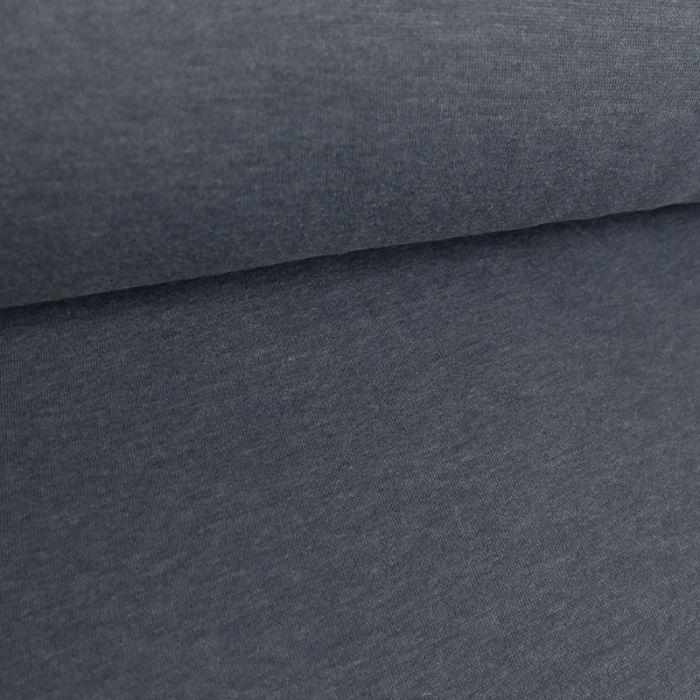 Tissu molleton sweat - bleu denim x 10 cm