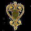 Breloque intercalaire coeur pour cabochon 50mm doré ancien x1