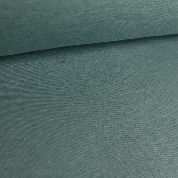 Tissu molleton sweat - turquoise x 10 cm