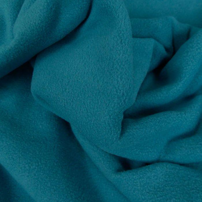Tissu polaire - bleu canard x 10 cm