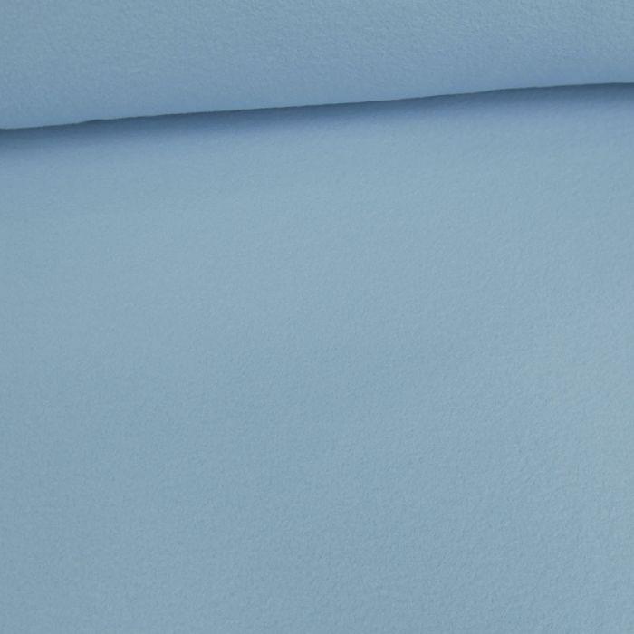 Tissu polaire - bleu layette x 10 cm