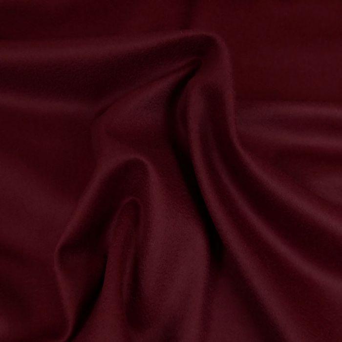 Tissu drap laine cachemire - bordeaux x 10 cm
