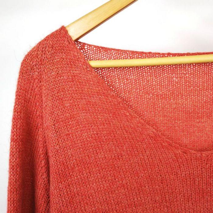 Kit tricot pull trou-trou en baby alpaga