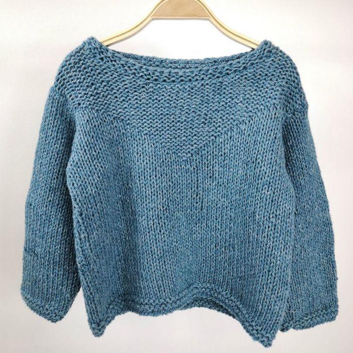 Kit tricot pull triangle des bermudes Enfant