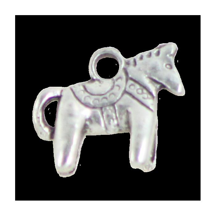 Breloque cheval 12mm argent x1