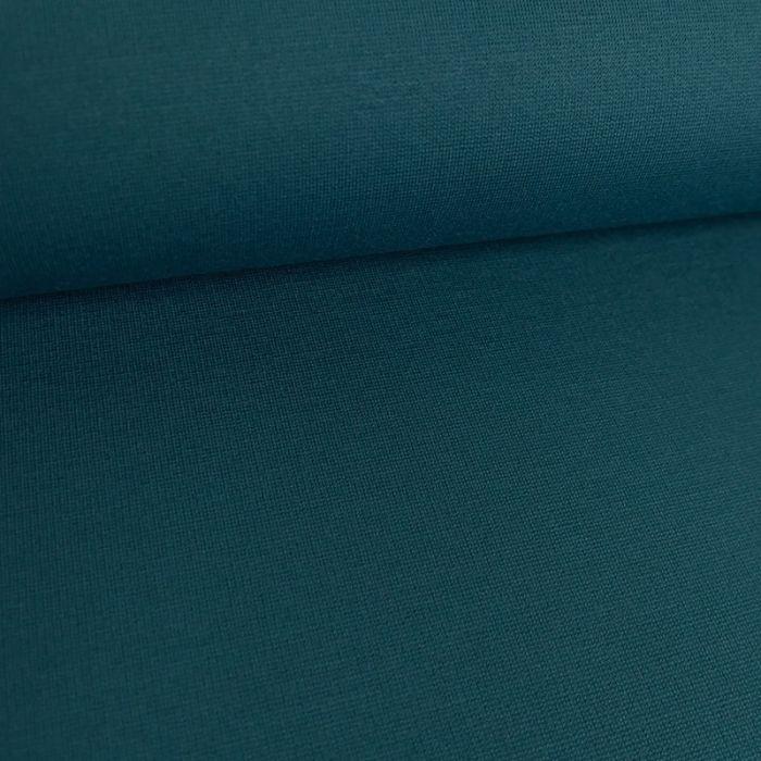 Tissu jersey punto lourd viscose - pétrole x 10 cm