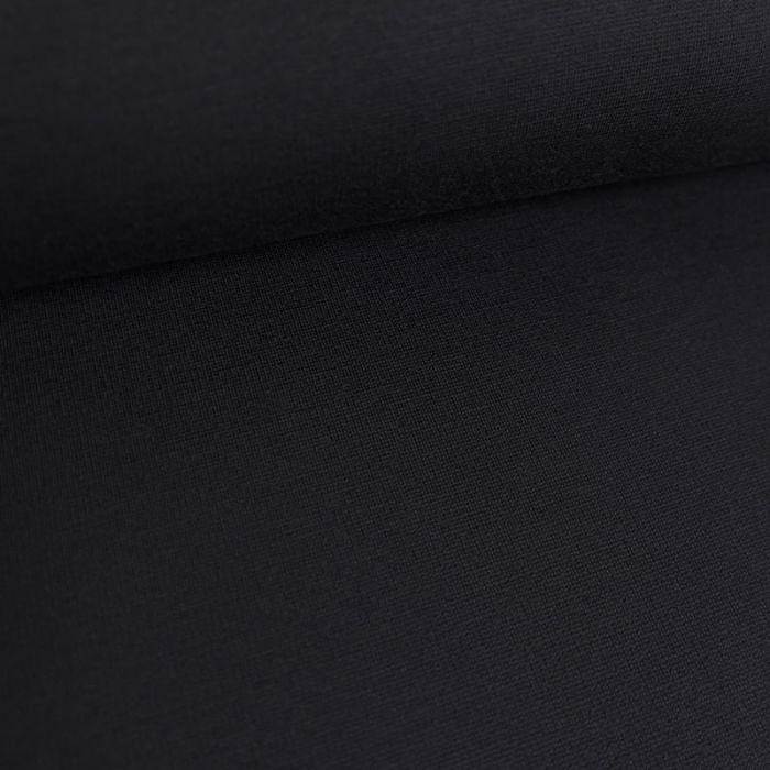 Tissu jersey punto lourd viscose - bleu foncé x 10 cm
