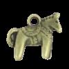 Breloque cheval 12mm bronze x1