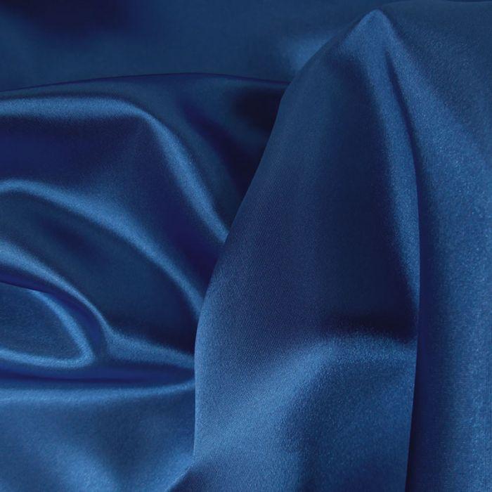 Tissu doublure Satin deluxe - bleu roi x 10 cm