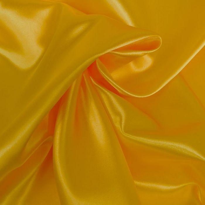 Tissu doublure Satin deluxe - jaune x 10 cm