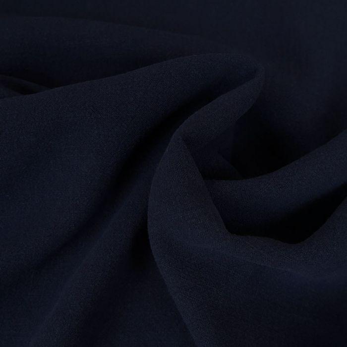 Tissu viscose lin - marine x 10 cm